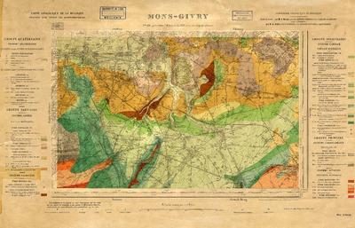 Carte Belgique Mons.Donum Carte Geologique De La Belgique 151 Mons Givry